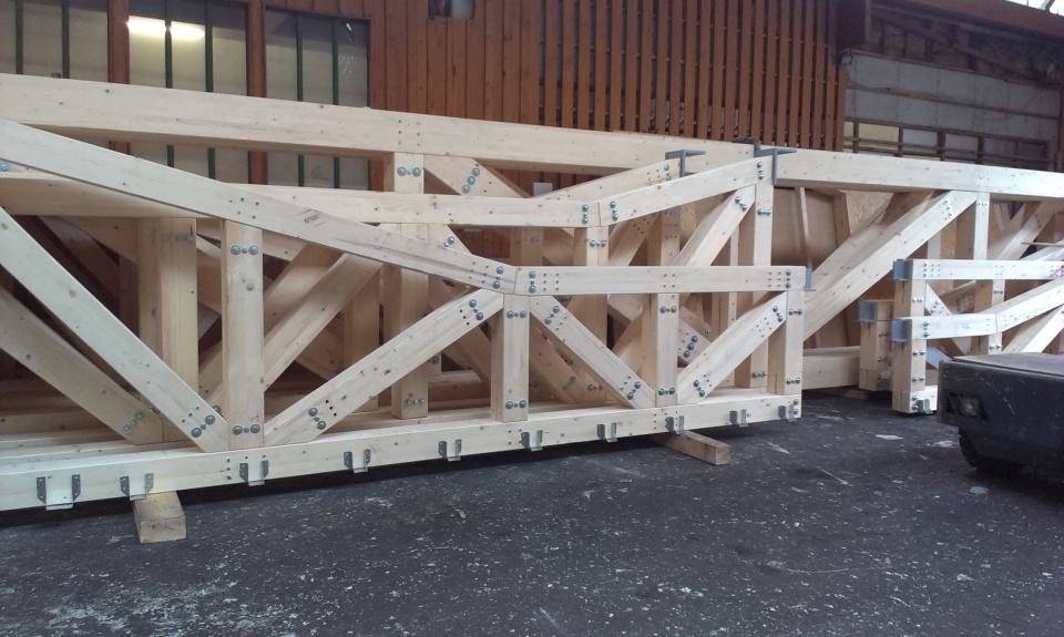 Holzfachwerk f r das evangelische gemeindezentrum for Fachwerk statik